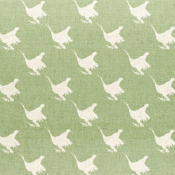 Milton and Manor Pheasant Green Block Small Fabric