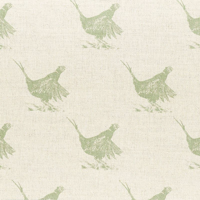 Milton and Manor Pheasant Green Sketch Large Fabric