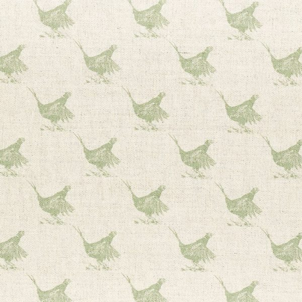 Milton and Manor Pheasant Green Sketch Small Fabric