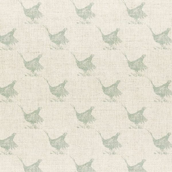 Milton and Manor Pheasant Duck Egg Sketch Small Fabric