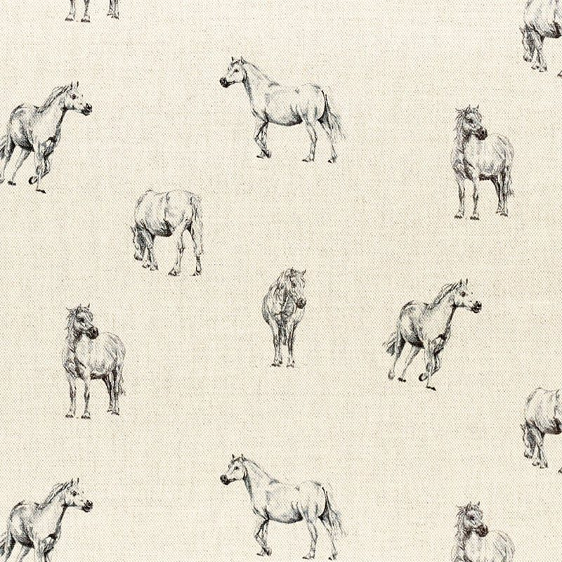 Milton and Manor Grey Pony fabric
