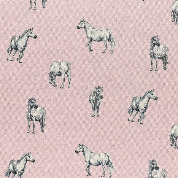 Milton and Manor Pony on Pink fabric