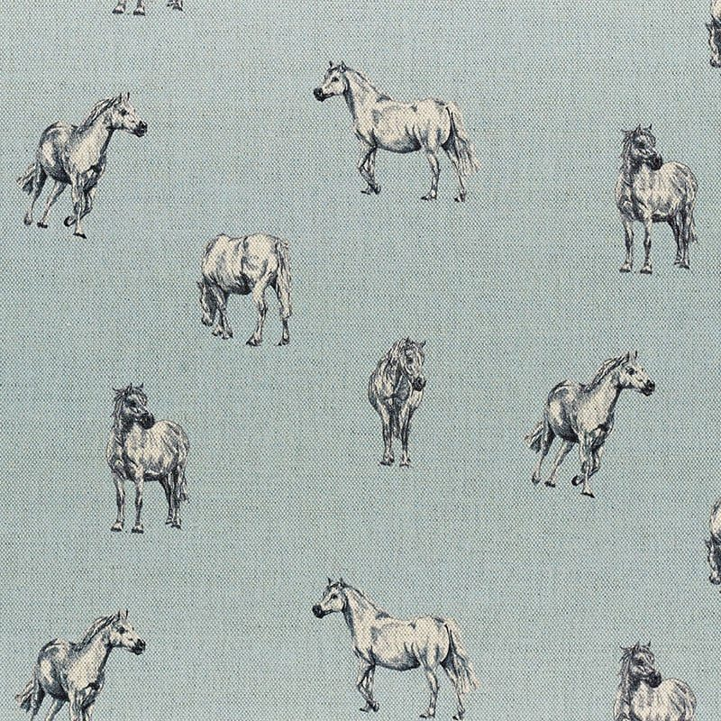 Milton and Manor Pony on Blue fabric