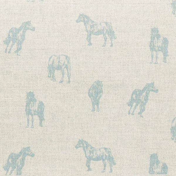 Milton and Manor Blue Pony fabric