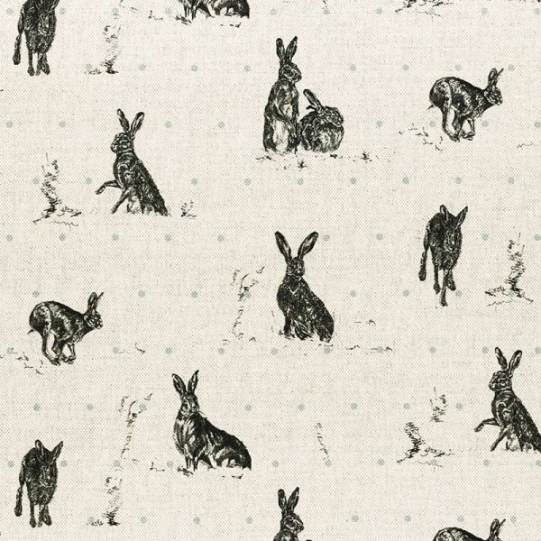 Milton and Manor Hare Capers with Duck Egg spot fabric