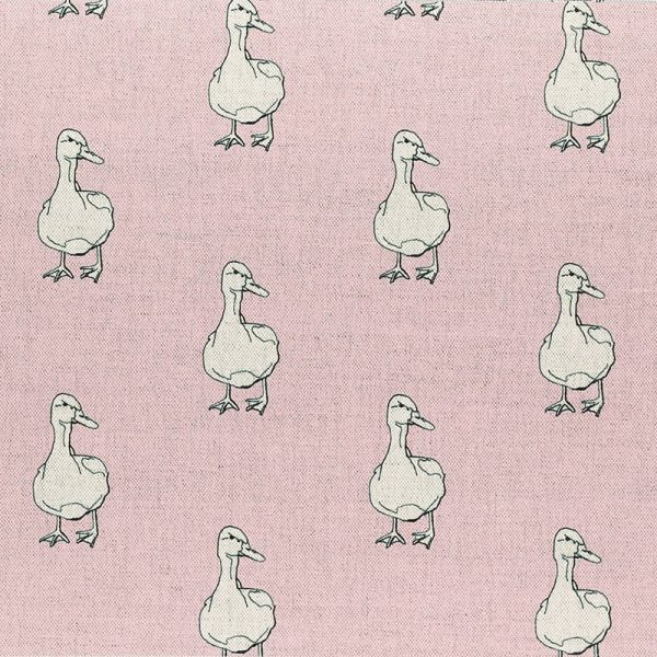 Milton and Manor Duck on Pink Fabric
