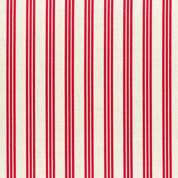 Milton and Manor Stripe Thin Red Fabric