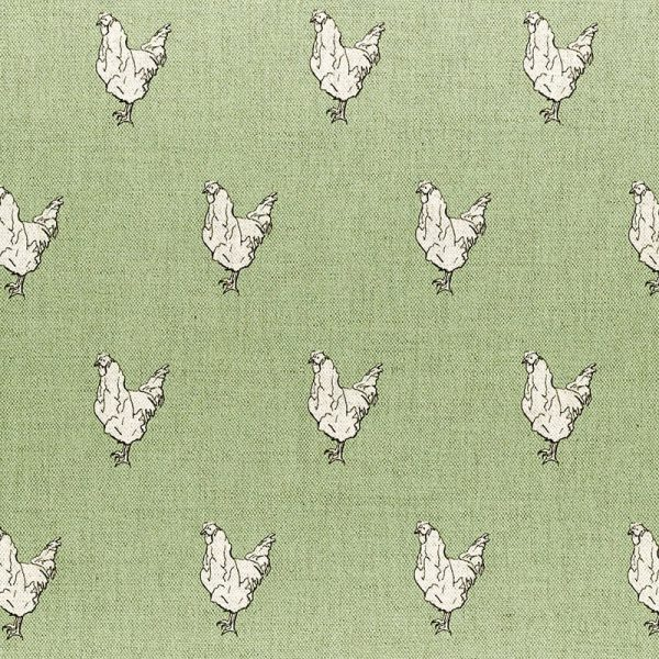Milton and Manor Chicken on Green Fabric