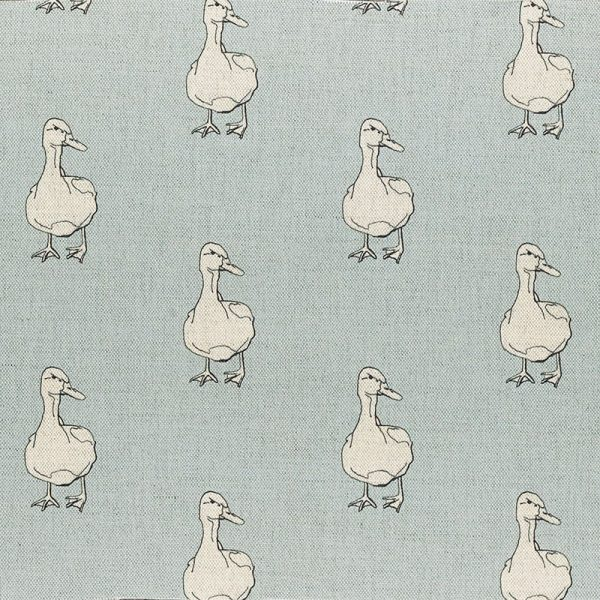 Milton and Manor Duck on Blue Fabric