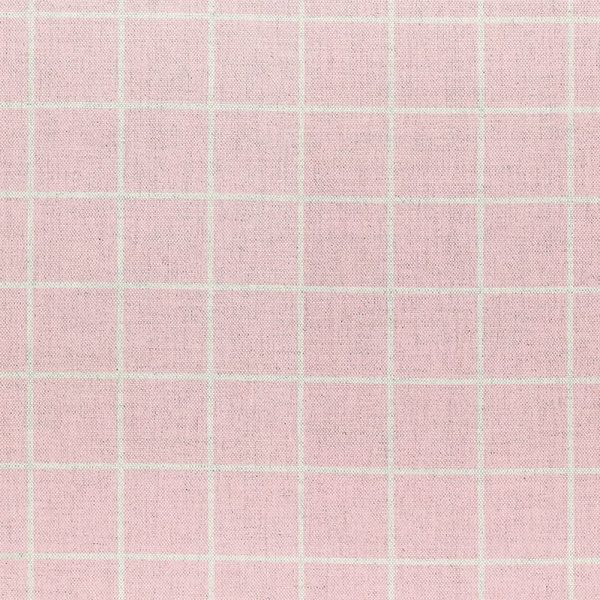 Milton and Manor Check Pink Fabric