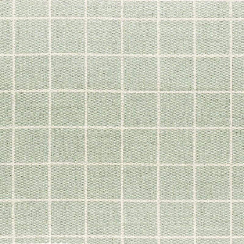 Milton and Manor Check Duck Egg Fabric
