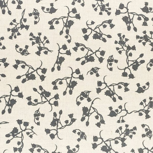 Milton and Manor Berries Grey Fabric