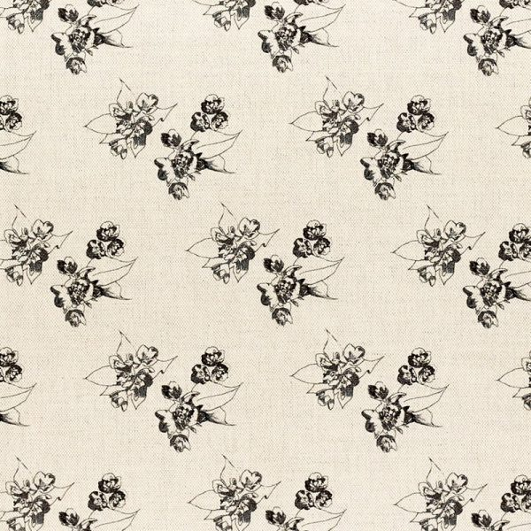 Milton and Manor Sweet Floral Grey fabric