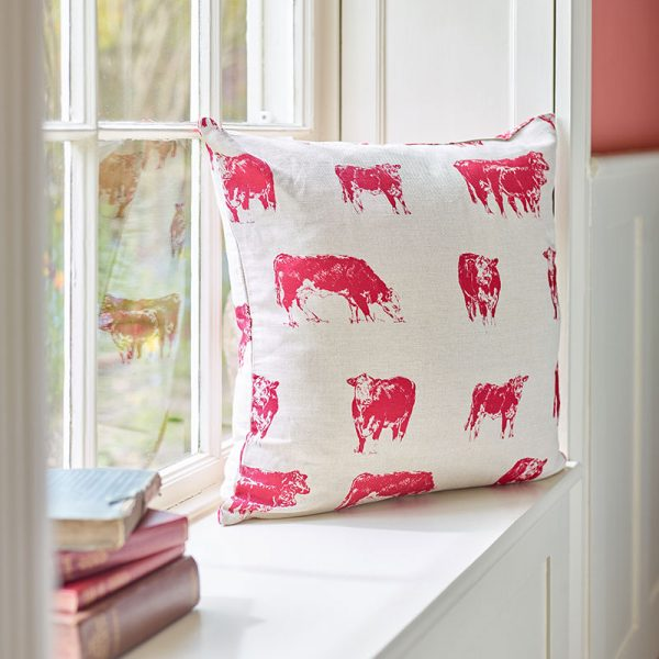 Milton and Manor Hereford cow large cushion