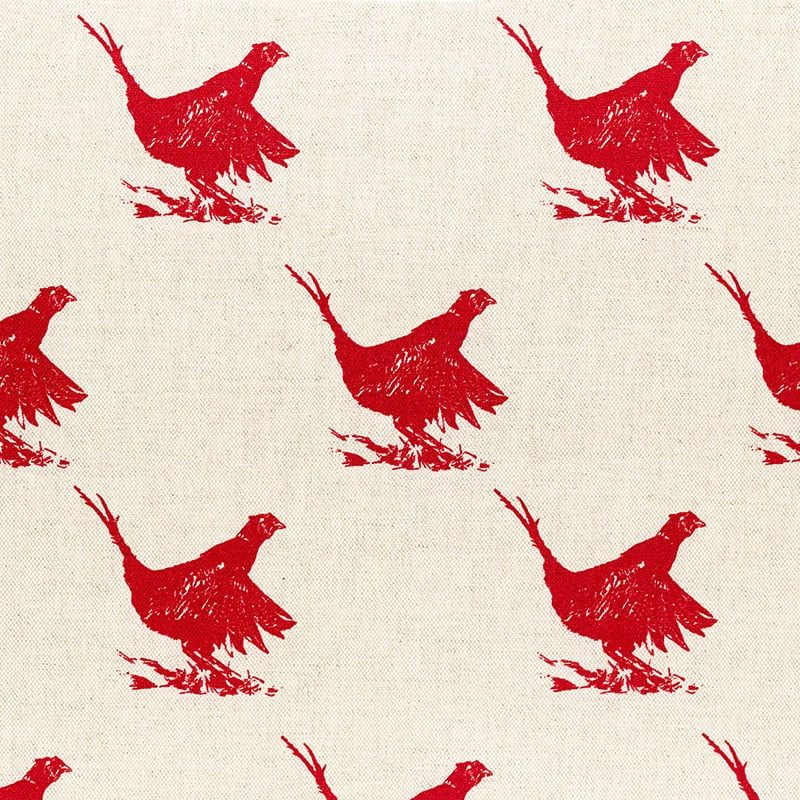 Milton and Manor Pheasant Red Sketch Large Fabric