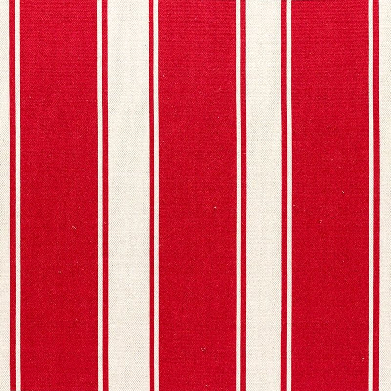 Milton and Manor Stripe Chunky Red Fabric