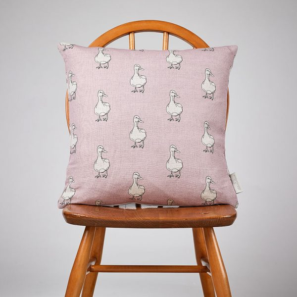 Milton and Manor Duck on Pink medium cushion