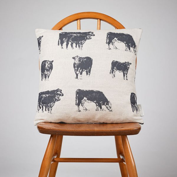 Milton and Manor Grey Hereford medium cushion