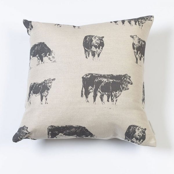 Milton and Manor Grey Hereford medium cushion