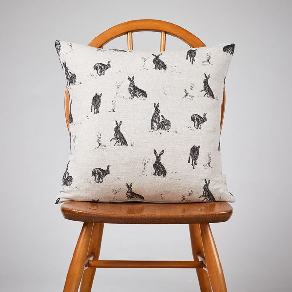 Milton and Manor Hare Capers medium cushion