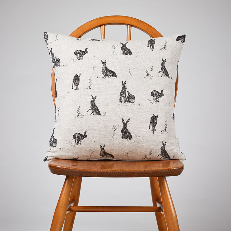 Milton and Manor Hare Capers medium cushion