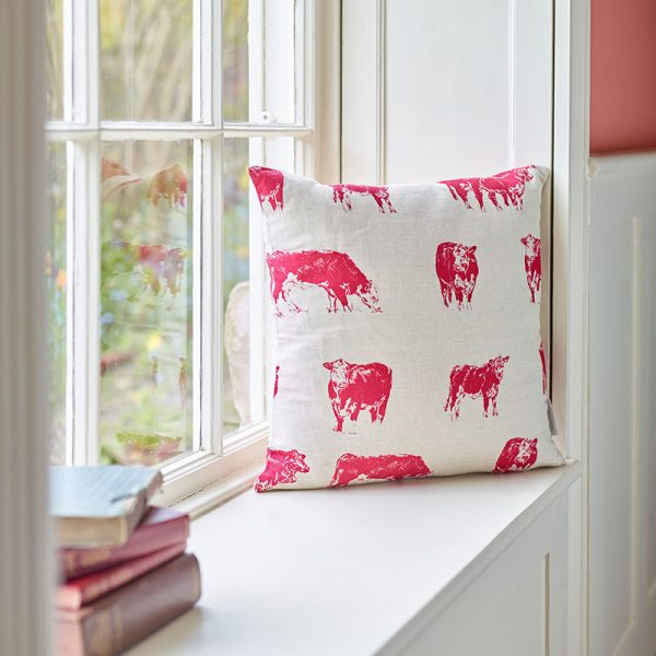 Milton and Manor Hereford cow medium cushion