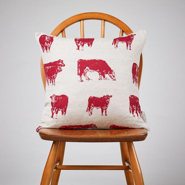 Milton and Manor Hereford Red Medium Cushion