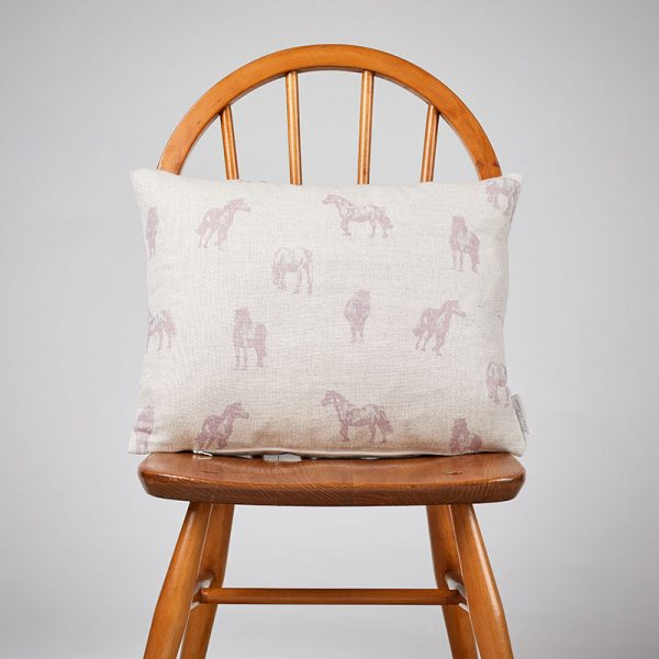 Milton and Manor Pony Pink Rectangle Cushion