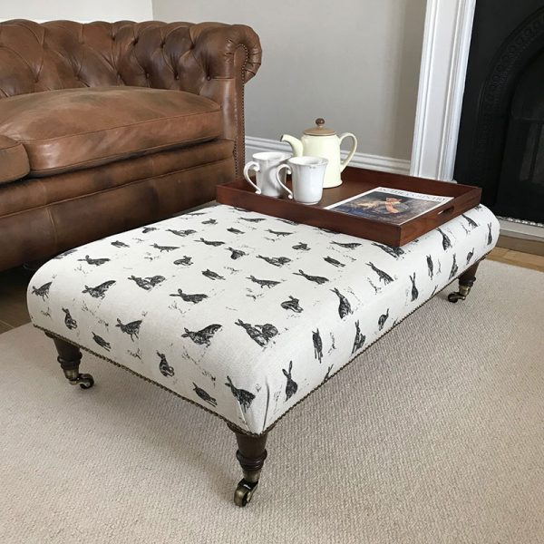Milton and Manor Hare Capers rectangle footstool
