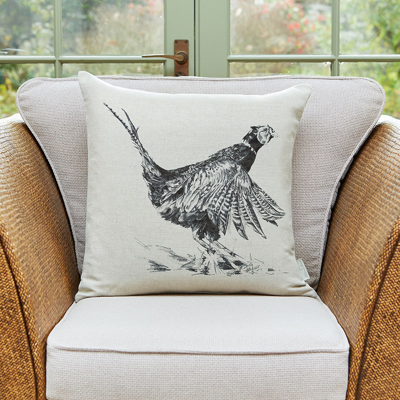 Milton and Manor Pheasant large cushion