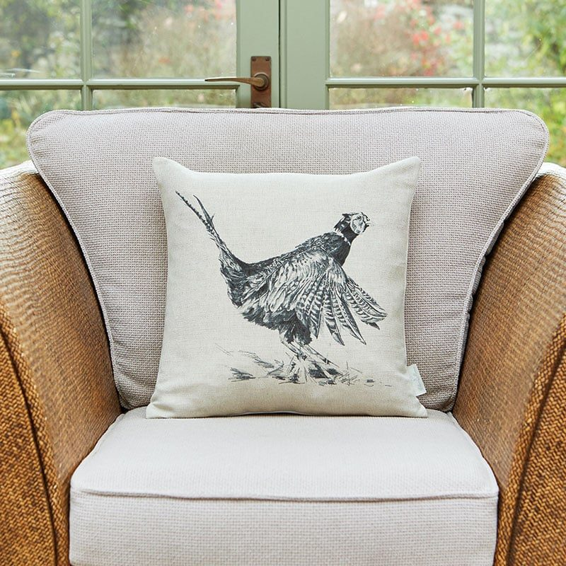 Milton and Manor Pheasant cushion