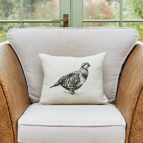 Milton and Manor partridge rectangle cushion