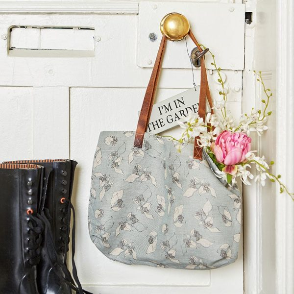 Milton and Manor Hedera on Duck Egg Linen bag