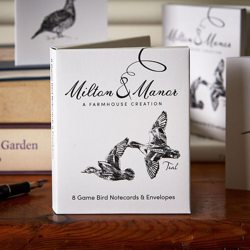 Milton and Manor game birds notecards