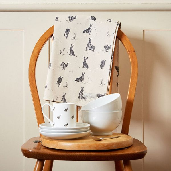 Milton and Manor Hare Capers tea towel