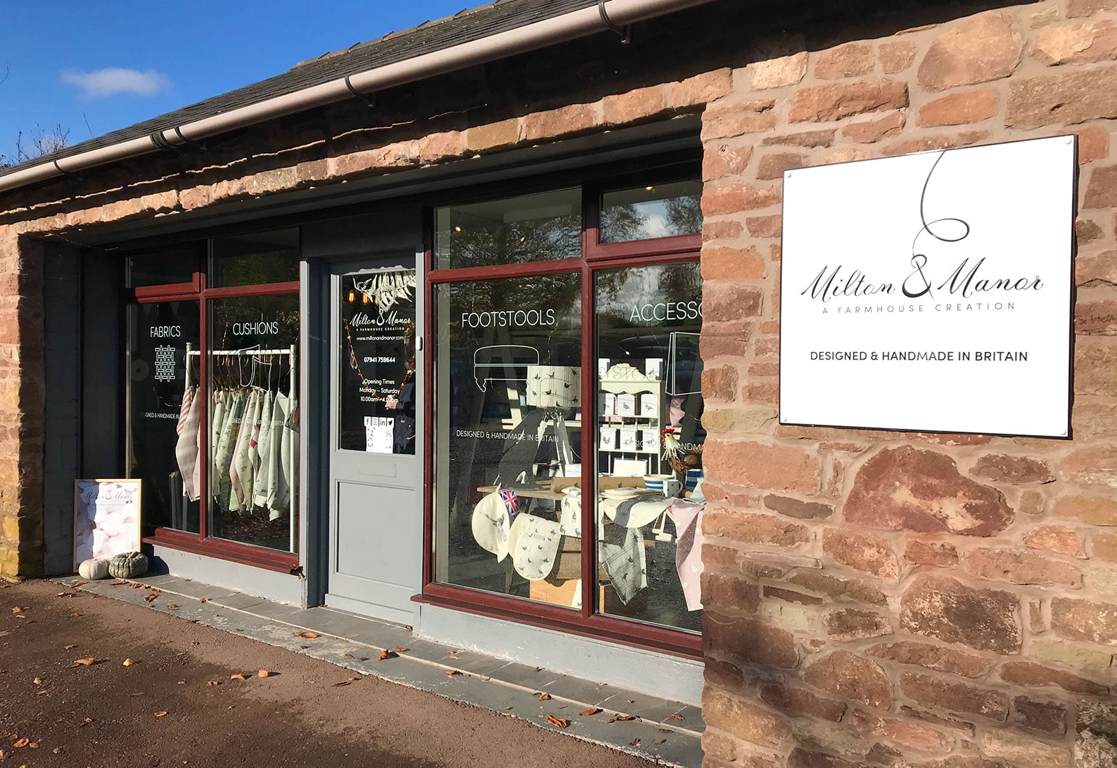 Milton and Manor shop