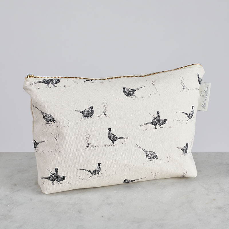 Milton & Manor Pheasant Fun Cosmetic Bag