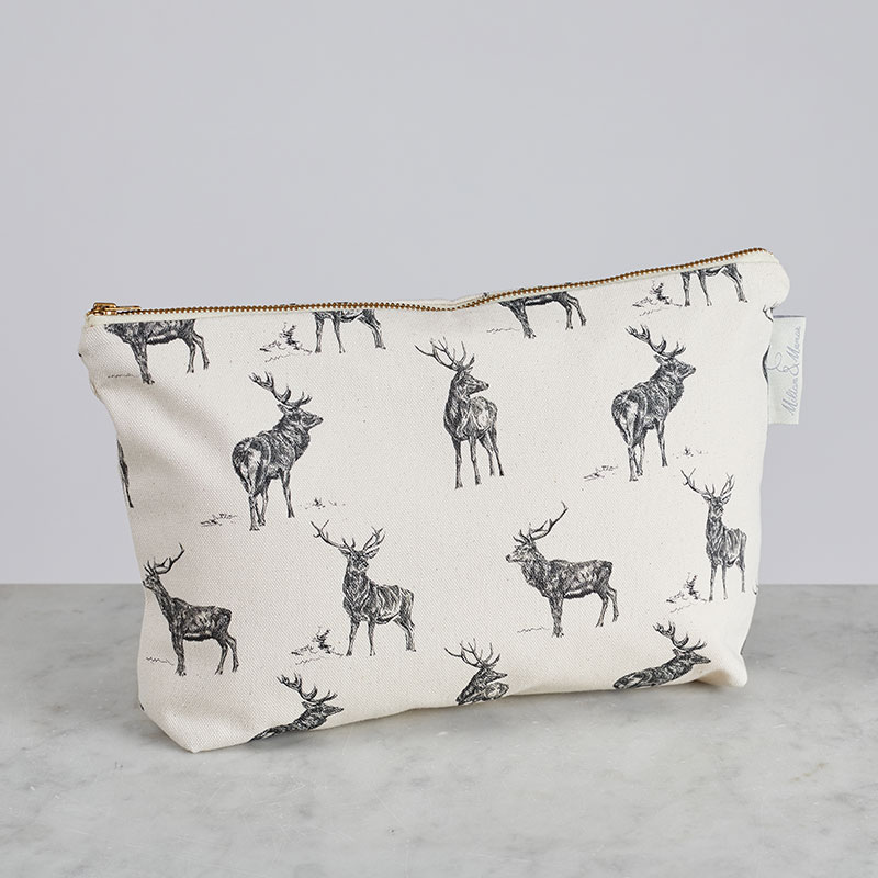 Milton & Manor Stag Parade Cosmetic Bag