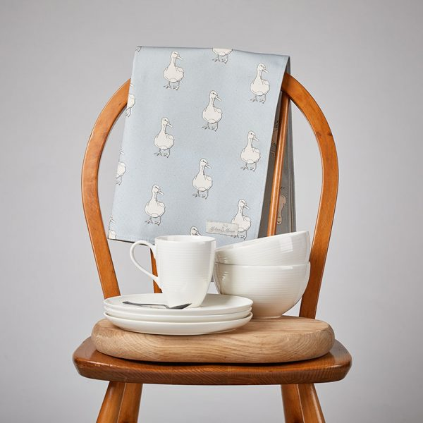 Milton and Manor Duck on Blue Tea Towel lifestyle