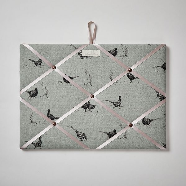 Milton and Manor Pheasant on Duck Egg Memo Board