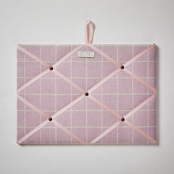 Milton and Manor Pink Check Memo Board
