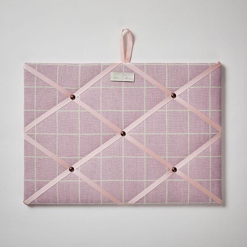 Milton and Manor Pink Check Memo Board