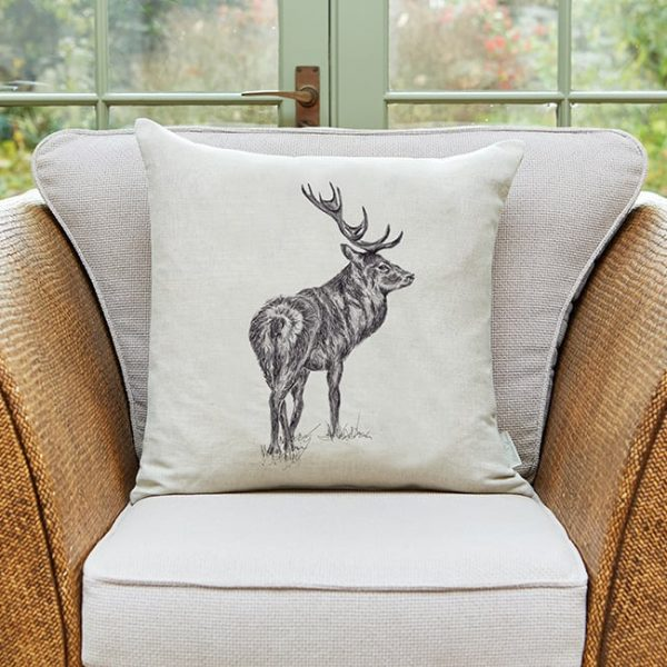 Milton and Manor Watchful Stag Large Cushion