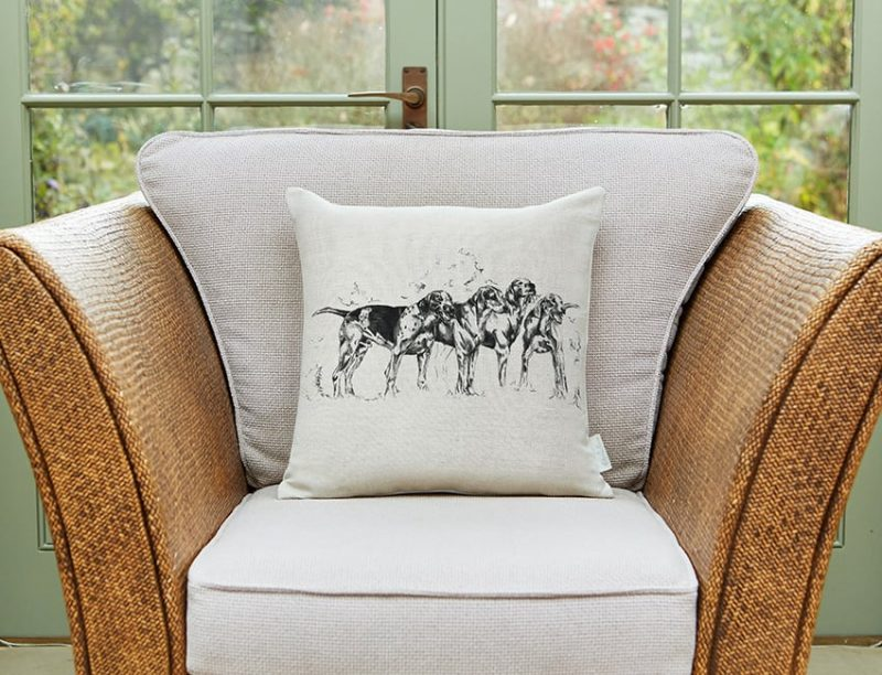 Milton and Manor Hound Dogs Medium Cushion