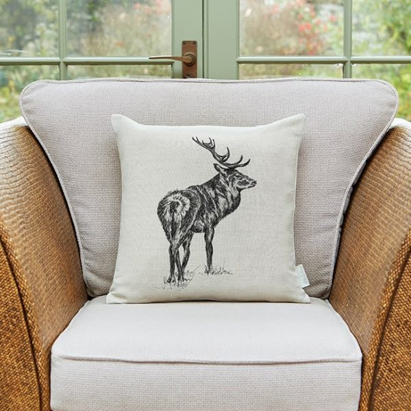 Milton and Manor Watchful Stag Medium Cushion