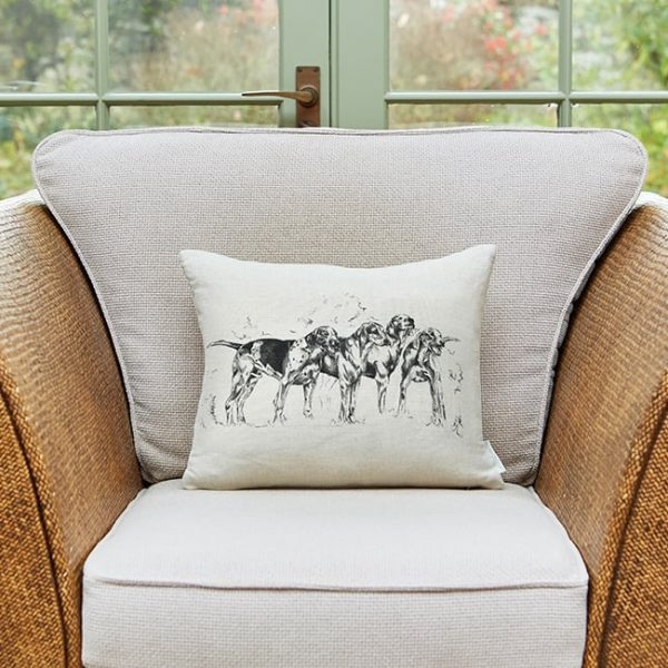 Milton and Manor Hound Dogs Rectangle Cushion
