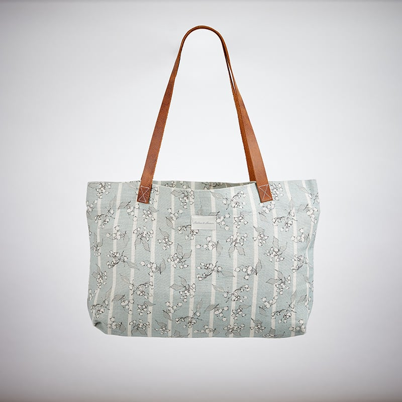 Milton and Manor Hedera with Duck Egg Stripe Linen Bag