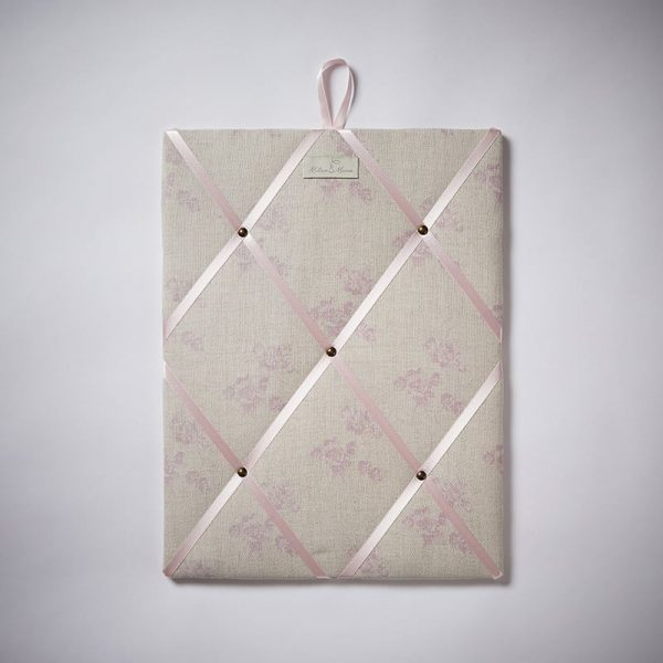 Milton and Manor Sweet Floral Pink Memo Board