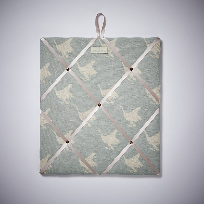 Milton and Manor Pheasant Blue Block Memo Board