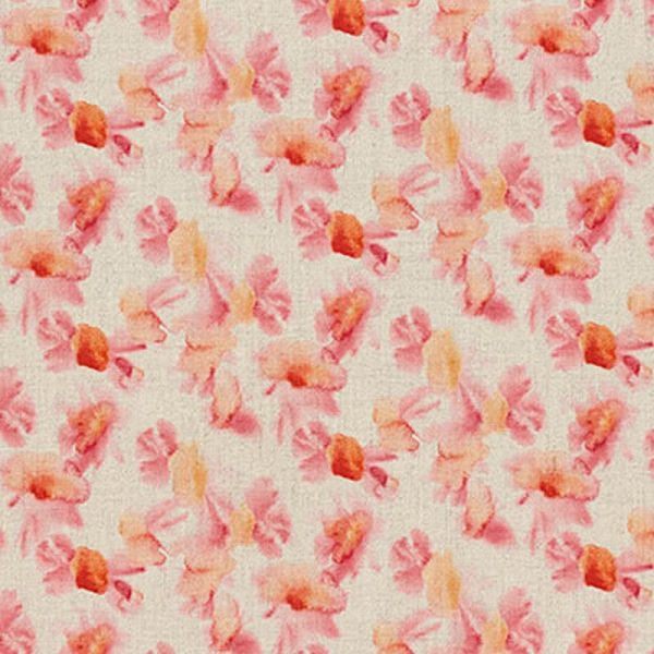 Milton and Manor Sweet Floral Red Fabric